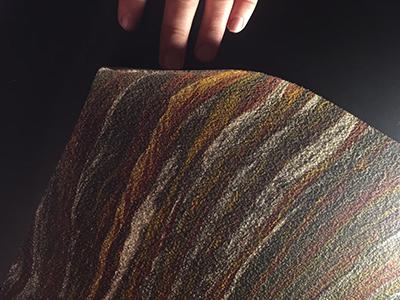 Печать на гибком камне